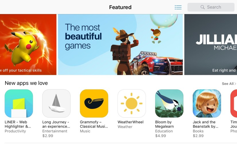 LINER Featured on the iOS App Store!